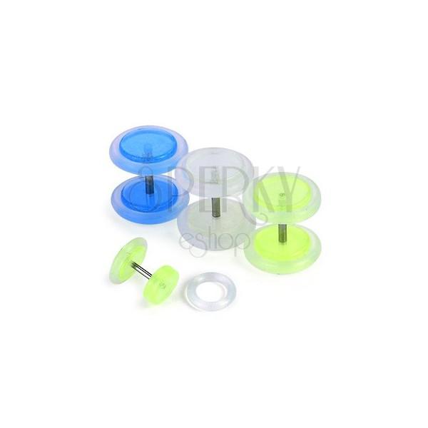Fake plug - fosforeskujúci, rôzne farby