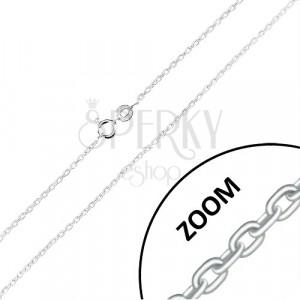 Retiazka zo striebra 925 - kolmo napájané oválne očká, 1,5 mm