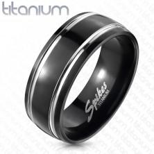 Titánový prsteň, dva pruhy