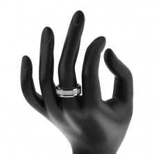 Wolfrámový prsteň - vzor vlákno