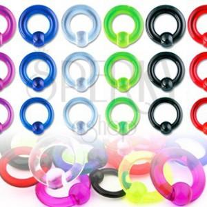 Piercing UV krúžok s guličkou