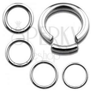 Piercing - hladký krúžok z ocele