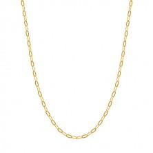 Zlatá retiazka 585 - ploché podlhovasté očká, perový krúžok, 500 mm
