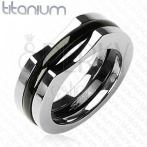 Pánsky titánový prsteň - trojzložkový