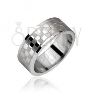 Oceľový prsteň, vzor šachovnica