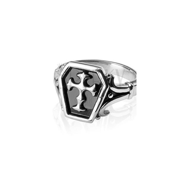 Prsteň z chirurgickej ocele - keltský kríž