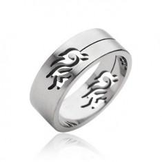 Šperky eshop - Oceľový prsteň symbol Tribal H17.4/5/6 - Veľkosť: 65 mm