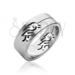Oceľový prsteň symbol Tribal