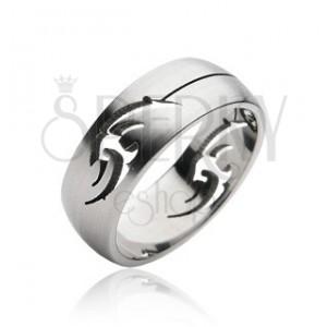 Prsteň z chirurgickej ocele - ornament TRIBAL