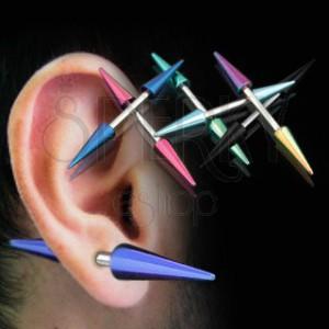 Piercing do ucha titánové špice
