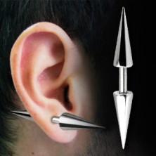 Piercing do ucha činka - Barbell s hrotmi basic, rôzne veľkosti