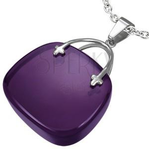 Prívesok pre dámy v tvare fialovej kabelky