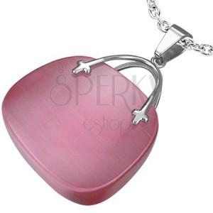 Prívesok pre dámy v tvare ružovej kabelky
