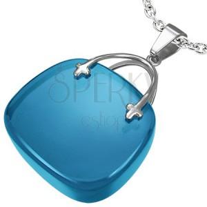 Dámsky prívesok v tvare modrej kabelky