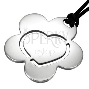 Oceľový prívesok Flower Heart