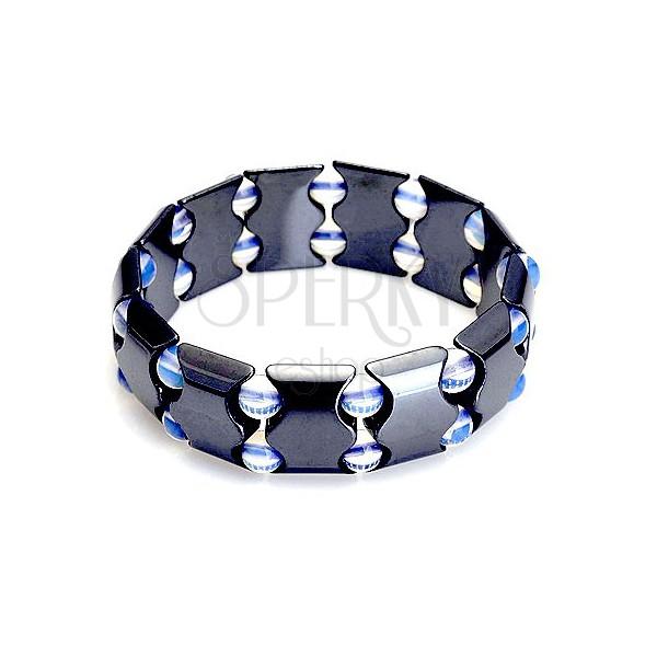 899584db4 Magnetický náramok z hematitu - farebné guľôčky | Šperky Eshop