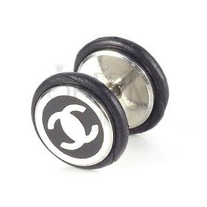Fake plug čierny - logo Chanel