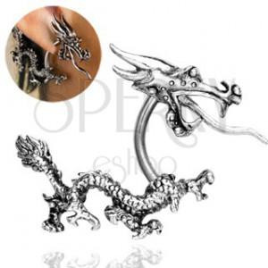 Piercing do ucha - čínsky drak ohnivák