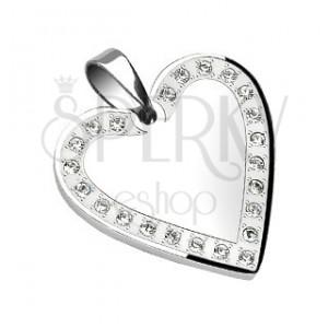 Oceľový prívesok - zrkadlo v srdci