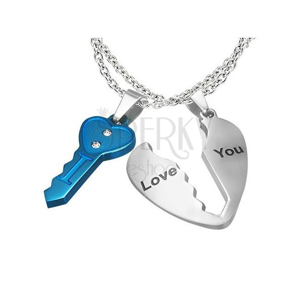 ... Zložený prívesok pre zaľúbených - kľúč a srdce 7515d8160e5
