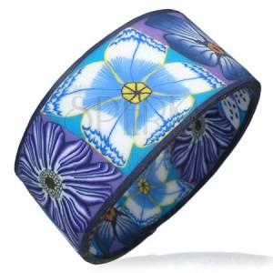 okruhly-fimo-naramok-fialove-modre-biele-kvety.jpg