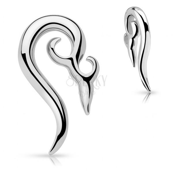 Piercing do ucha z chirurgickej ocele - ornamentálna špirála