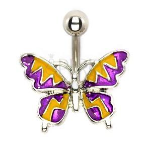 Oceľový piercing - letný motýľ