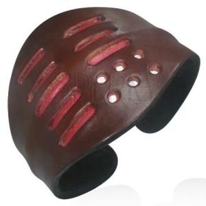 Kožený náramok - hnedý, tvarovateľný