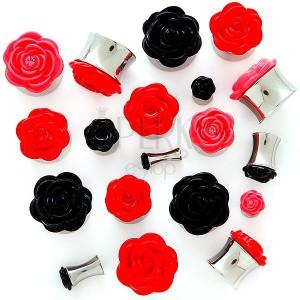 Plug do ucha s plastickou ružičkou