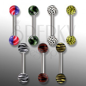 Piercing do jazyka - tiger, leopard, Amerika, ARMY