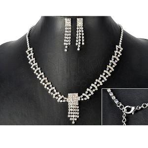 Sada - náhrdelník a náušnice z dúhových kamienkových pásov