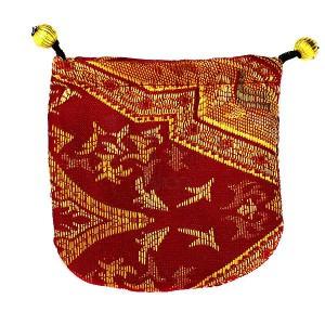 Darčekové balenie - látkové vrecúško, zlaté ornamenty