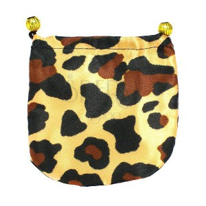 Vrecúško na darčeky - saténové, vzor leopard