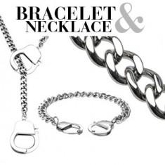 Šperky eshop - Retiazkový set - náramok a náhrdelník s putami Q11.16