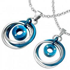 Šperky eshop - Prívesok pre dvoch - prepletené prstence e6664210d8f