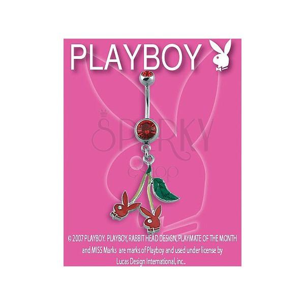 PLAYBOY piercing belly ring s čerešničkami Bunny