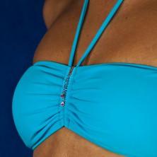 Šperk na plavky - visiace slzičky zirkónov na dlhej retiazke