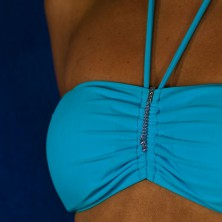 Šperk na plavky - visiace srdiečko so zirkónom na retiazke