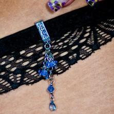 Šperk na plavky - visiace zirkóny