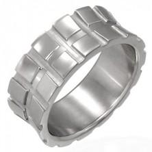 Prsteň z chirurgickej ocele malé štvorce