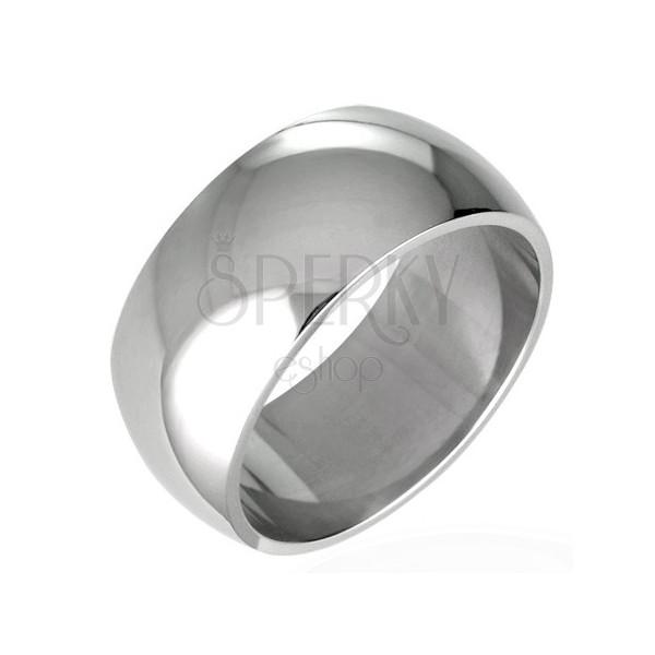 Snubný prsteň z chirurgickej ocele - lesklý oblý 8 mm