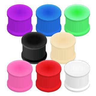 Tunel do ucha gumený, ohybný - Hrúbka: 9,5 mm, Farba piercing: Ružová