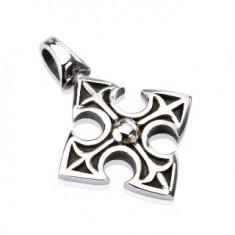 Šperky eshop - Prívesok z ocele - stredoveký keltský kríž G22.16