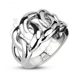 Prsteň z chirurgickej ocele - prepletaný vzor