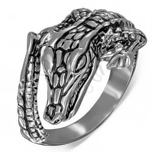 Prsteň z ocele - krokodíl