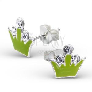 Náušničky zo striebra 925 - kráľovská korunka