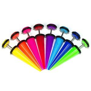 Falošný taper, expander - neónové farby
