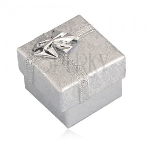 Darčekové balenie - strieborné ruže, strieborná stuha, 40 mm