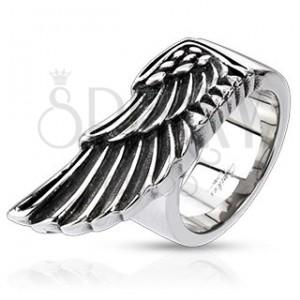 Prsteň z ocele - veľké krídlo orla