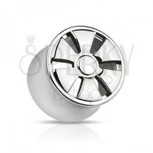 Plug do ucha z ocele - sedlový, dizajn ELEKTRÓNY
